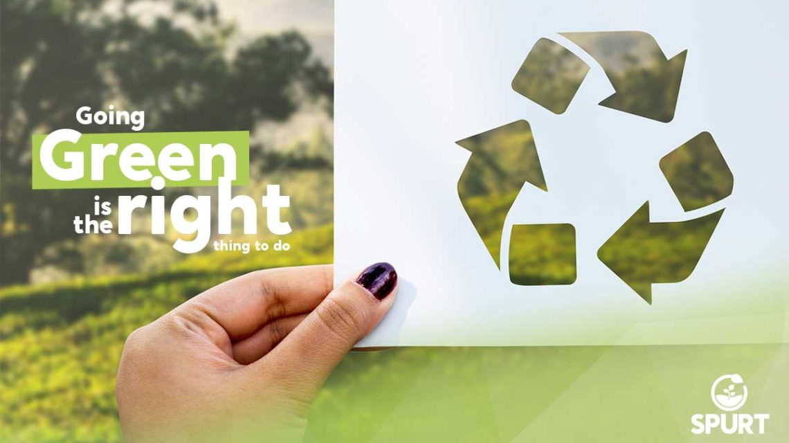 Going green is the right thing to do